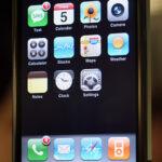 Widget dashboard on Apple iPhone