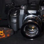 Sony DSLR-A100 with an M42 mount lens