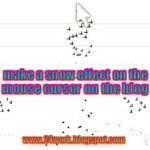 How You Can Add Snow Impact On The Blogger Mouse Cursor Area