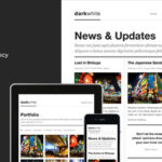 Darkwhite: Themeforest Blog / Portfolio WordPress Theme