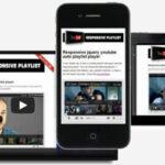 jQuery responsive youtube playlist for WordPress